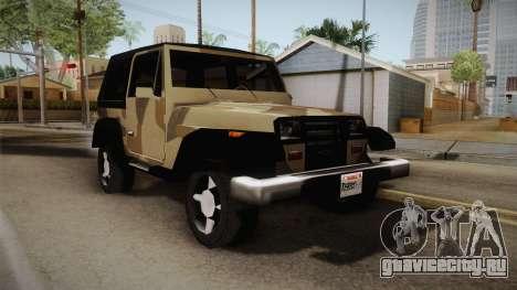 GTA 5 Crusader Mesa для GTA San Andreas вид сзади слева