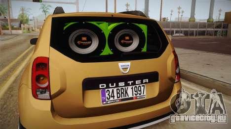 Dacia Duster для GTA San Andreas вид сбоку