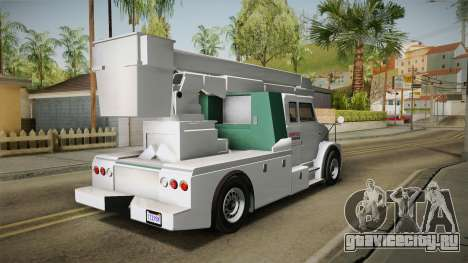 GTA 5 Brute Utility Truck для GTA San Andreas вид сзади слева