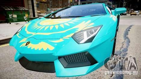 Lamborghini Aventador с флагом Казахстана для GTA 4