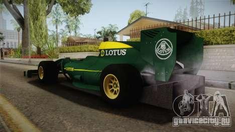 F1 Lotus T125 2011 v1 для GTA San Andreas вид слева