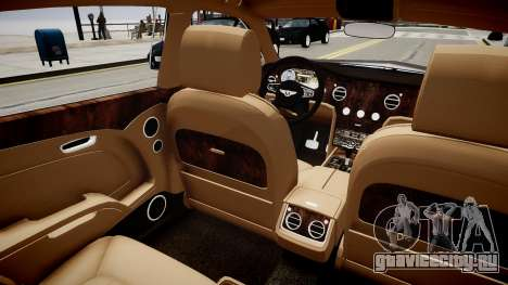 Bentley Mulsanne 2014 для GTA 4 вид изнутри