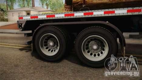 GTA 5 Log Trailer v2 IVF для GTA San Andreas вид сзади