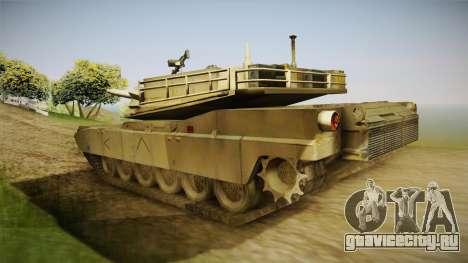 Abrams of Hell для GTA San Andreas вид сзади слева