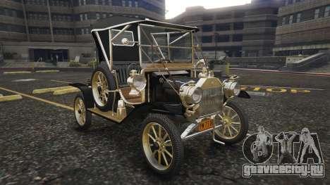 Ford T 12 model 2 для GTA 5 вид сзади