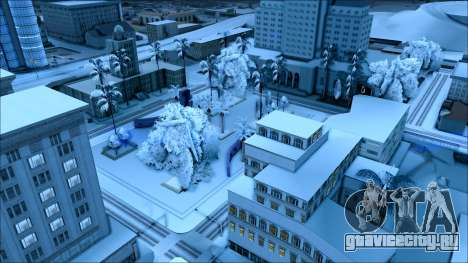 Новый зимний мод для GTA San Andreas шестой скриншот