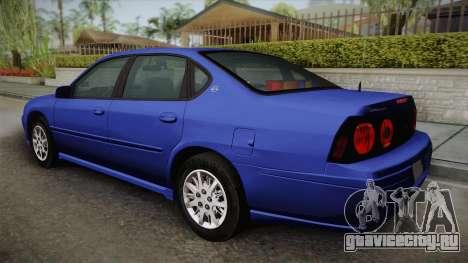 Chevrolet Impala 2004 Detective Unmarked для GTA San Andreas вид слева