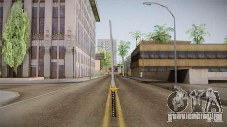 High Poly Katana для GTA San Andreas второй скриншот