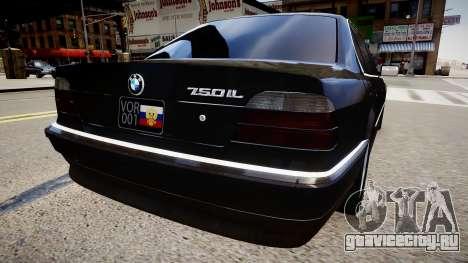 BMW 750iL E38 для GTA 4 вид сзади слева