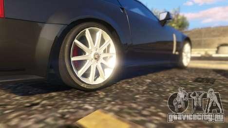 Cadillac XLR-V для GTA 5 вид сзади справа