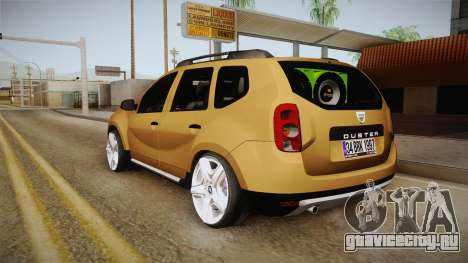 Dacia Duster для GTA San Andreas вид сзади слева