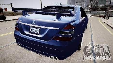 Mercedes Benz S500 T для GTA 4 вид сзади слева