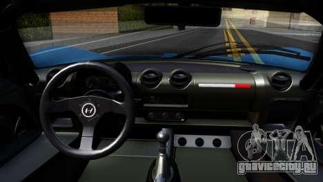 Hennessey Venom GT для GTA San Andreas вид изнутри