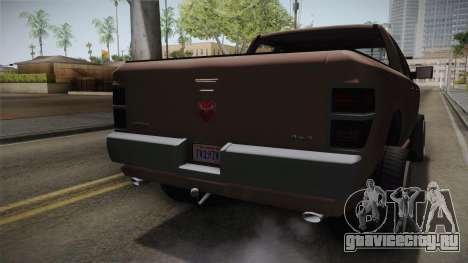 GTA 5 Bravado Bison IVF для GTA San Andreas вид изнутри