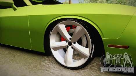 Dodge Challenger Hellcat 2015 для GTA San Andreas вид сзади