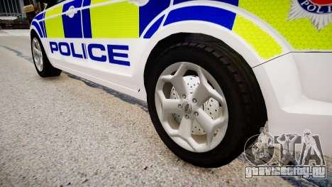 Ford Focus Estate '09 police UK для GTA 4 вид сзади