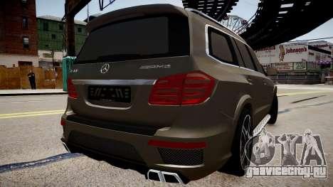 Mercedes-Benz GL63 AMG для GTA 4 вид слева