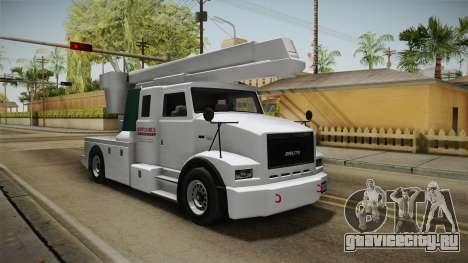 GTA 5 Brute Utility Truck для GTA San Andreas вид справа