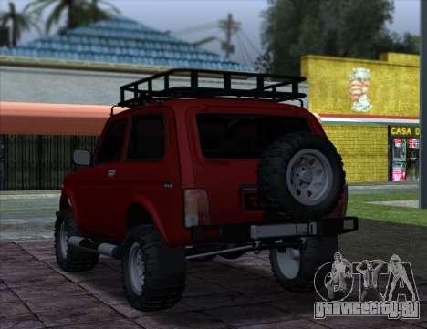 Niva 2121 4x4 Offroad для GTA San Andreas вид сзади слева