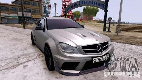Mercedes-Benz C63 AMG 2012 v1.0 для GTA 4