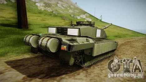 Challenger 2 для GTA San Andreas вид слева