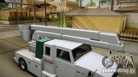 GTA 5 Brute Utility Truck для GTA San Andreas вид изнутри