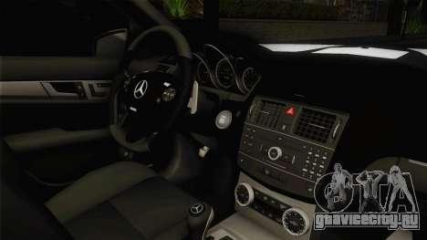 Mercedes-Benz C180 для GTA San Andreas вид изнутри