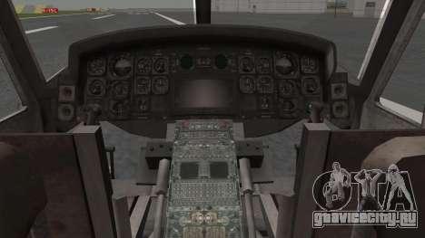 Bell UH-1N для GTA San Andreas вид изнутри