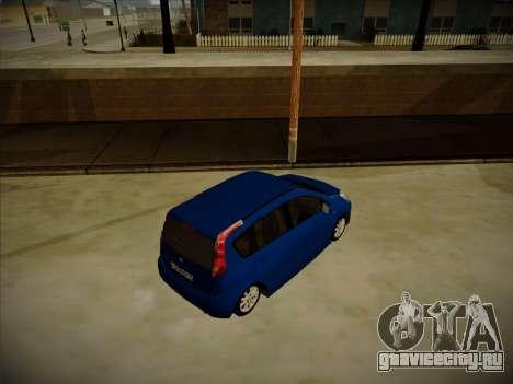Nissan Note 2008-2009 для GTA San Andreas вид справа