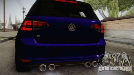 Volkswagen Golf 7R 2015 Beta V1.00 для GTA San Andreas вид сзади
