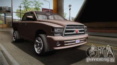 GTA 5 Bravado Bison IVF для GTA San Andreas вид справа