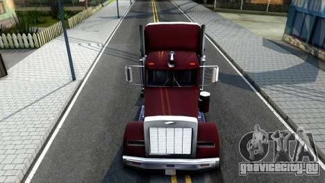 Realistic Linerunner для GTA San Andreas вид изнутри