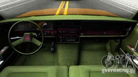 Chevrolet Caprice 1987 для GTA San Andreas вид изнутри