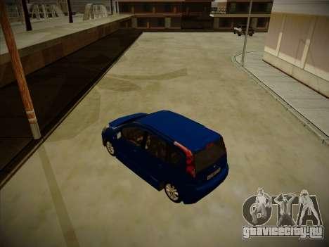 Nissan Note 2008-2009 для GTA San Andreas вид сзади слева