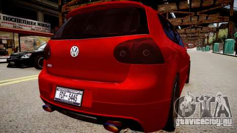 Volkswagen Golf V GTI для GTA 4 вид сзади слева