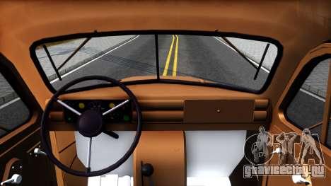 ГАЗ-51 Эвакуатор для GTA San Andreas вид изнутри