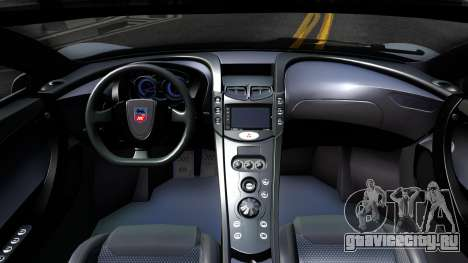 GTA Spano 2015 для GTA San Andreas вид изнутри