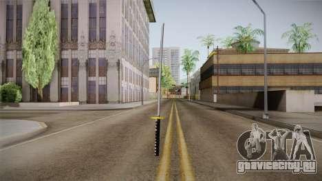 High Poly Katana для GTA San Andreas третий скриншот