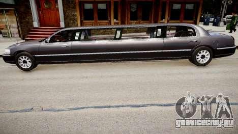 Lincoln Town Car Limousine 2010 для GTA 4 вид слева