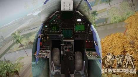 EMB Dassault Mirage 2000-C FAB для GTA San Andreas вид изнутри