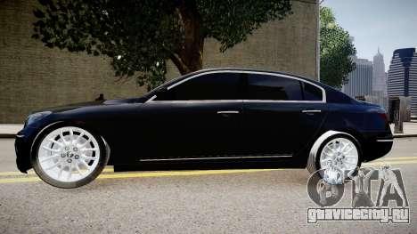 Hyundai Genesis 2008 для GTA 4 вид слева