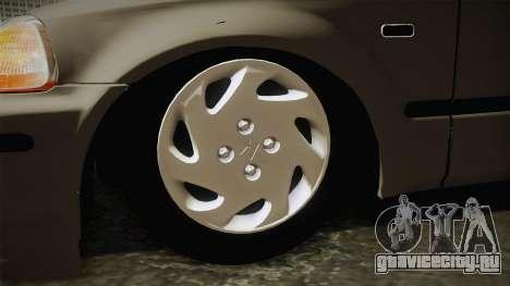 Honda Civic 1.6 iES для GTA San Andreas вид сзади