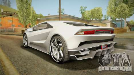 GTA 5 Pegassi Tempesta для GTA San Andreas вид слева
