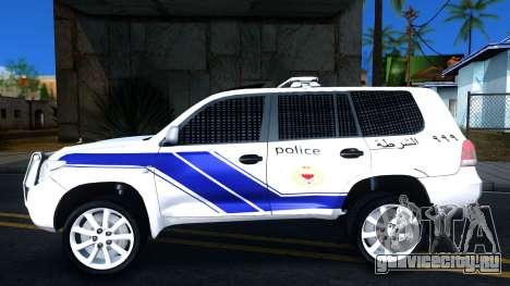 Toyota Land Cruiser Police для GTA San Andreas вид слева