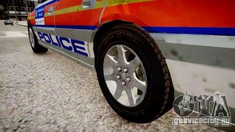Met Police Vauxhall Omega для GTA 4 вид сзади