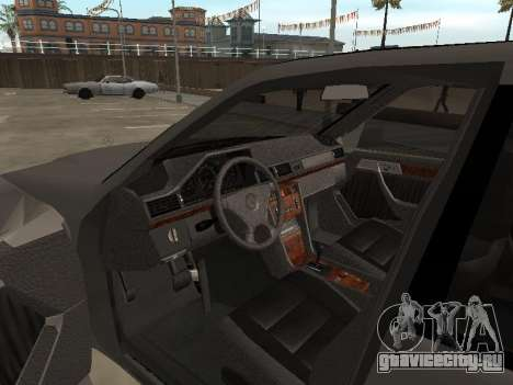 Mercedes-Benz C180 Armenian для GTA San Andreas вид изнутри