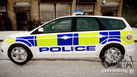 Ford Focus Estate '09 police UK для GTA 4 вид слева