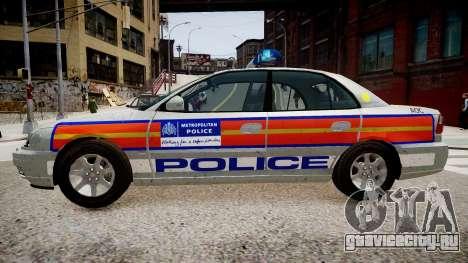 Met Police Vauxhall Omega для GTA 4 вид слева