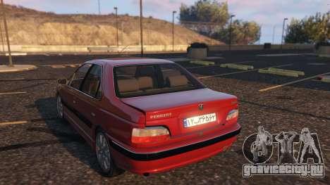 Peugeot Pars для GTA 5 вид сзади слева
