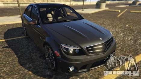 Mercedes-Benz C63 AMG W204 2014 для GTA 5 вид сзади